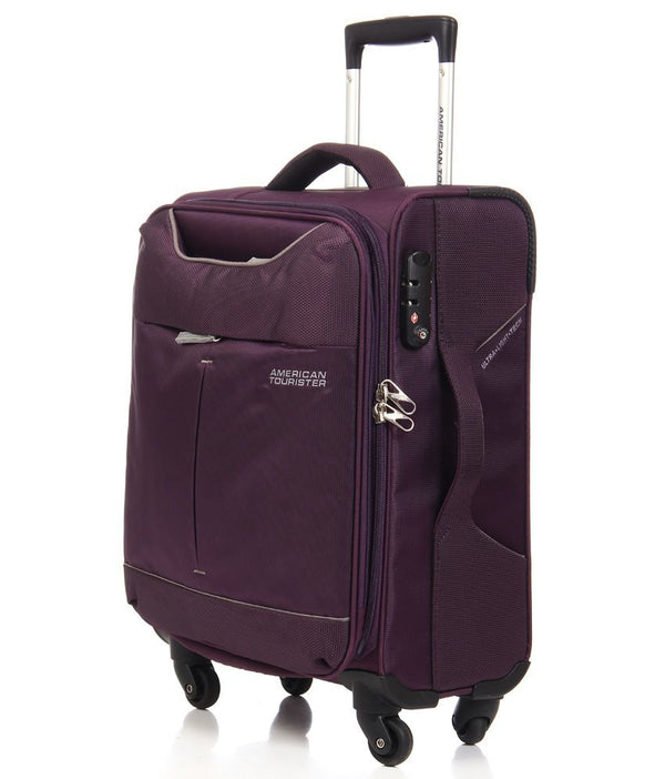American Tourister Sky 55cm Cabin Spinner - Expandable | Purple/Grey