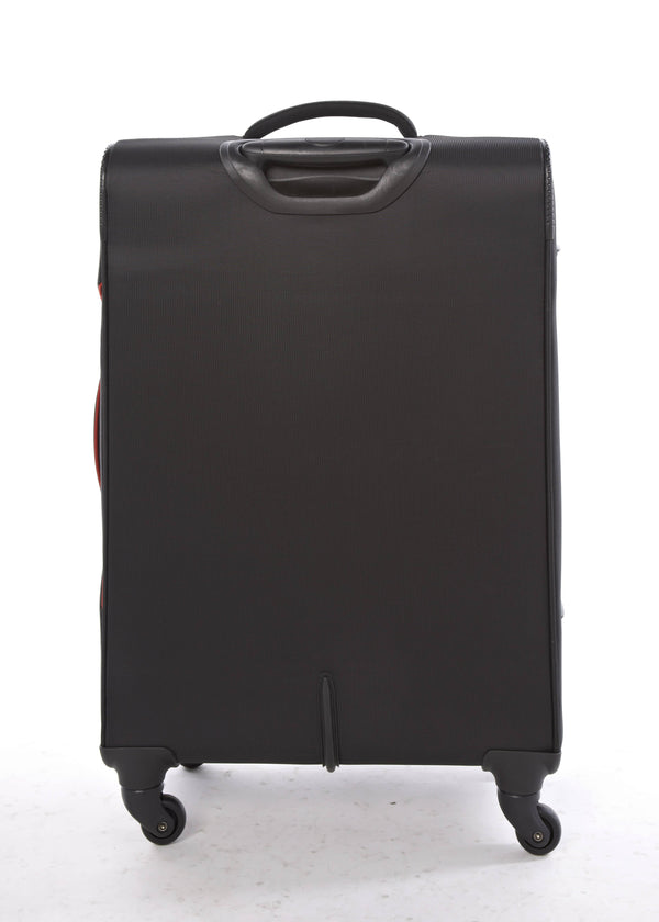 American Tourister Sky 55cm Cabin Spinner - Expandable | Black/Red