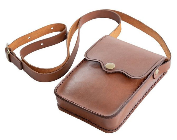 Yuppie Gift Baskets Leather Pocket Bag | Brown - KaryKase