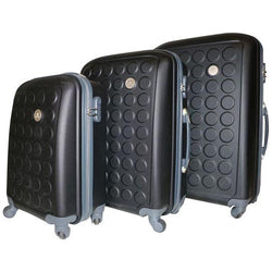 Tosca Sphere Spinner 3Pc Luggage Set | Black - KaryKase