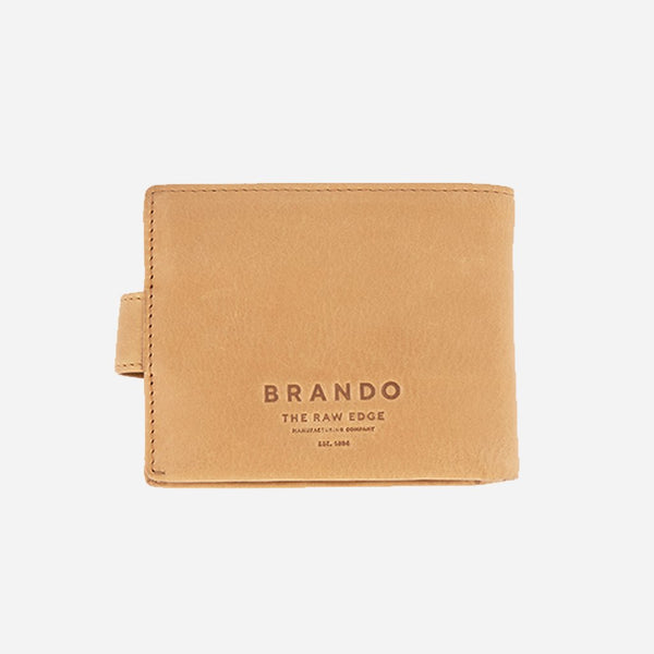 Brando Cooper Leather Wallet With Tab | Tan