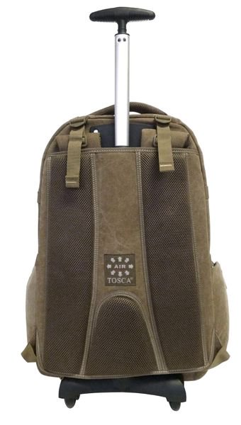 "Tosca Canvas 15"" Laptop Trolley Backpack 