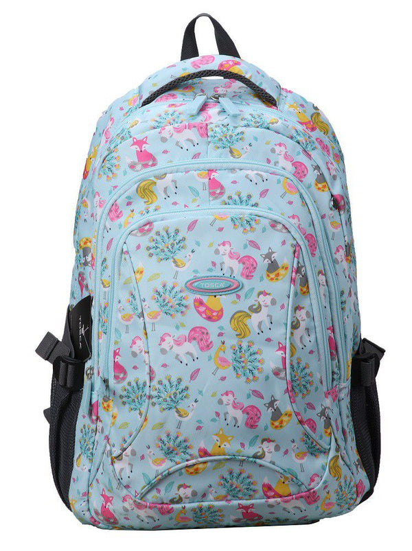 Tosca School Fashion Backpack | Blue Unicorn - KaryKase