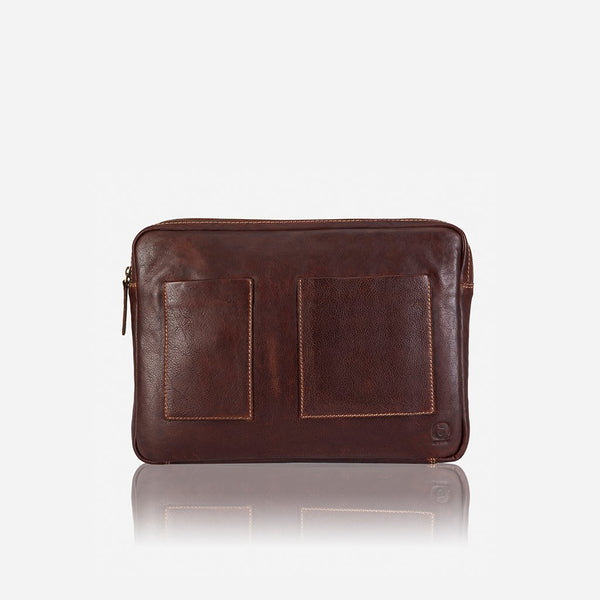 Brando Asher Padded Laptop Bag | Brown - KaryKase
