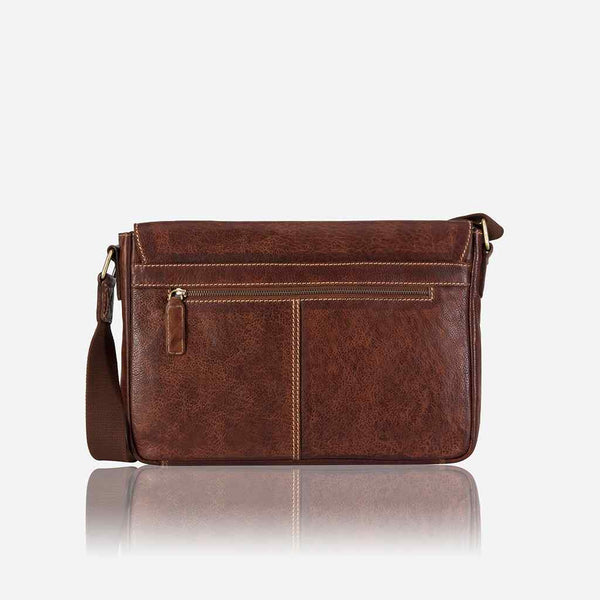 Brando Asher Leather Laptop Crossbody Bag | Brown - KaryKase