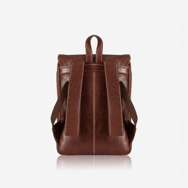 Brando Asher Laptop Leather Backpack | Brown - KaryKase