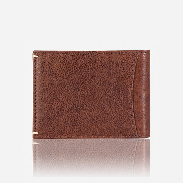 Brando Asher  Sleek Slim Leather Card +Note  Wallet | Brown
