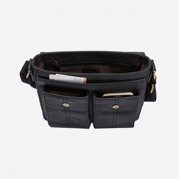 Brando Diesel Raw Edge Crossbody Bag | Black - KaryKase