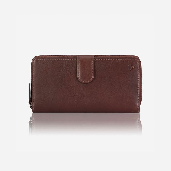 Brando Dakota Leather Multicard Purse With Zip & Tab | Brown - KaryKase