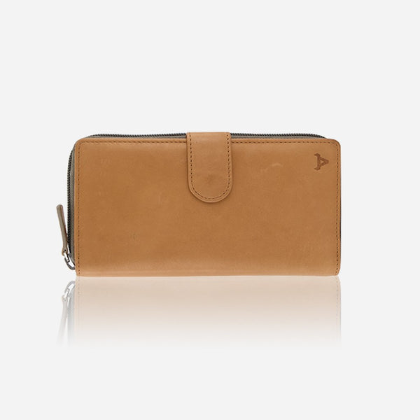 Brando Cooper Multi Card Purse With Zip  | Tan