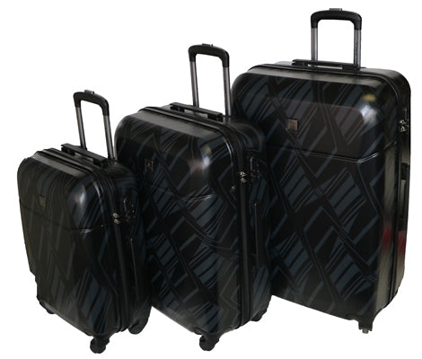 Tosca Mirage Trolley 3 PC Set | Black