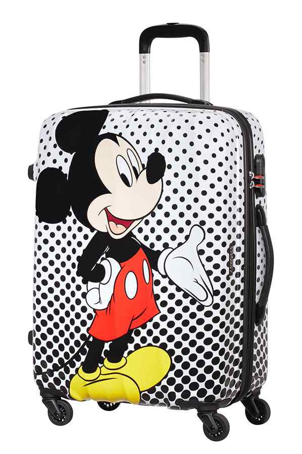 American Tourister Disney Legends 65cm Medium Spinner | Mickey Polka Dot - KaryKase