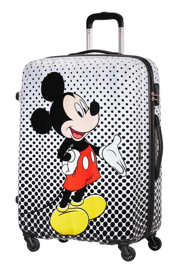American Tourister Disney Legends 75cm Large Spinner | Mickey Polka Dot - KaryKase