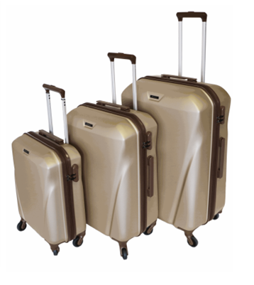 Tosca Landmark Spinner 3Pc Luggage Set | Gold