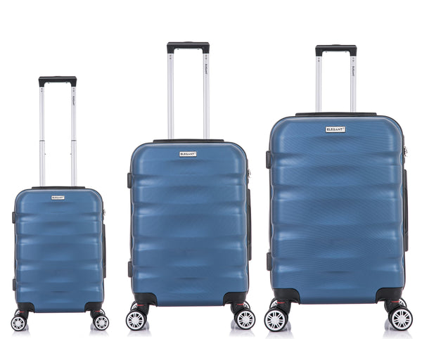 Tosca Explorer 3 Piece Luggage Trolley Set | Blue - KaryKase