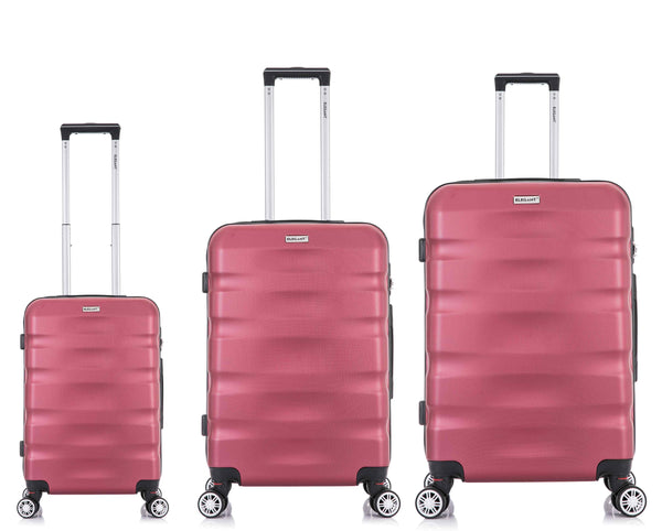 Tosca Explorer 3 Piece Luggage Trolley Set | Red - KaryKase