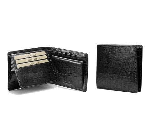 Adpel Italian Leather Wallet With CC Flap & Coin Purse