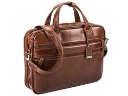 Adpel Roma Leather Laptop Bag | Brown - KaryKase