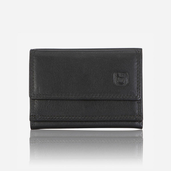 Brando Armstrong Compact Trifold Leather Wallet | Black