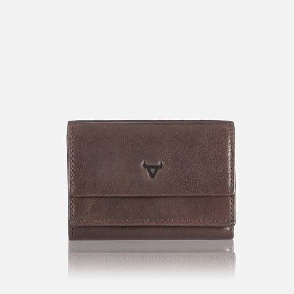 Brando Cooper X Compact Leather Trifold Wallet | Brown - KaryKase