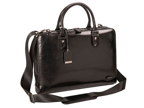 "Adpel Fastlane Slim Leather 15"" Laptop Bag 
