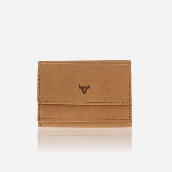 Brando Cooper Compact Leather Trifold Wallet | Tan
