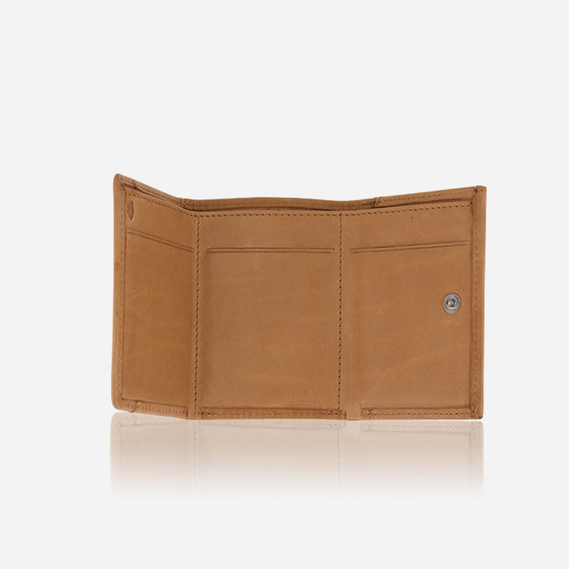 Brando Cooper Compact Leather Trifold Wallet | Tan - KaryKase