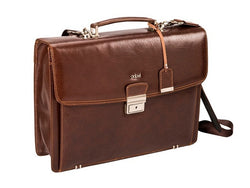 Adpel Fabio Leather Laptop Briefcase | Brown - KaryKase