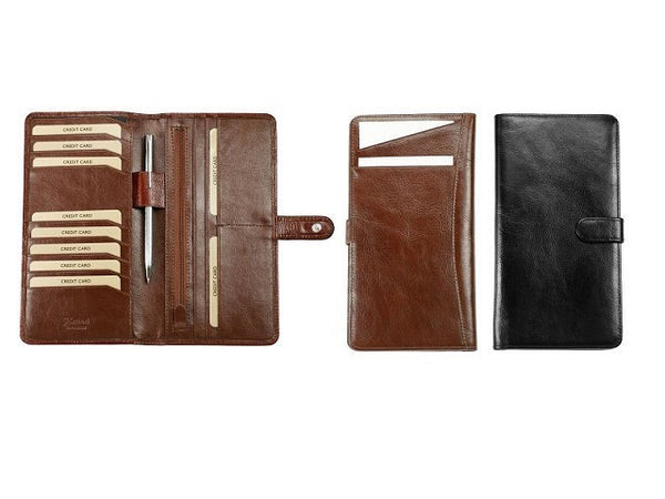 Adpel Italian Leather Slimline Travel Wallet - KaryKase