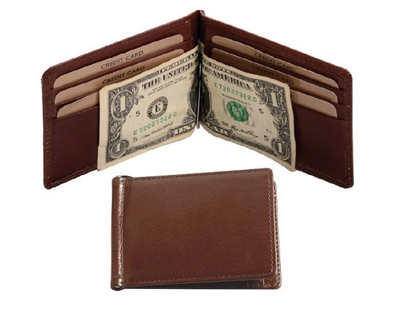 Adpel Italian Leather Money Clip Holder