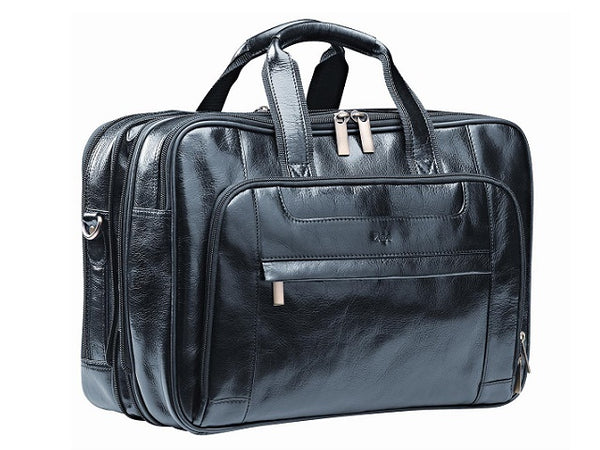 "Adpel Italian Leather Nevada 15.4"" Executive Laptop Bag 
