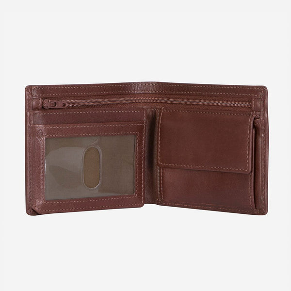 Brando Dakota Classic Billford Men's Leather Wallet | Brown