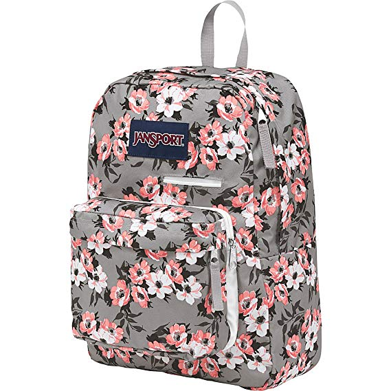 Jansport Digibreak Exclusive Laptop Backpack | Coral Sparkle Pretty Posey - KaryKase