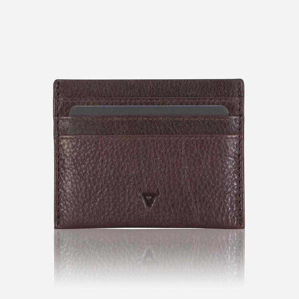 Brando Impala Slim Leather Card Wallet | Dark Brown - KaryKase