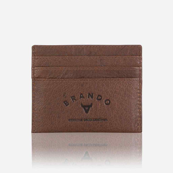 Brando Oryx Slim Leather Card Wallet | Brown