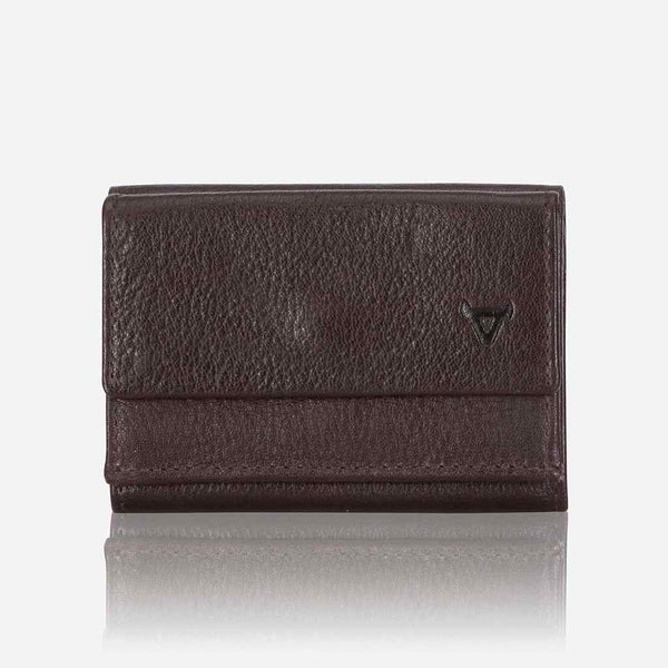 Brando Impala Compact Mini Trifold Wallet | Dark Brown