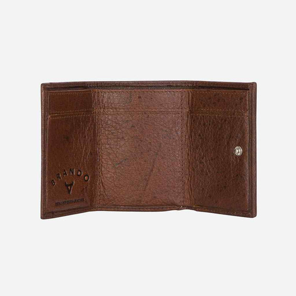 Brando Oryx Compact Mini Trifold Wallet | Brown