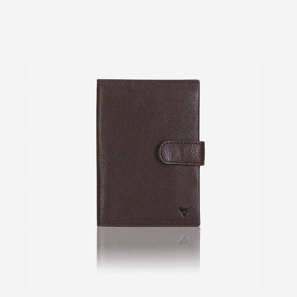 Brando Impala Leather Passport Holder & Wallet | Dark Brown