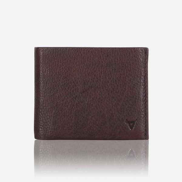 Brando Impala Multi Card, Coin + Note Leather Wallet | Dark Brown