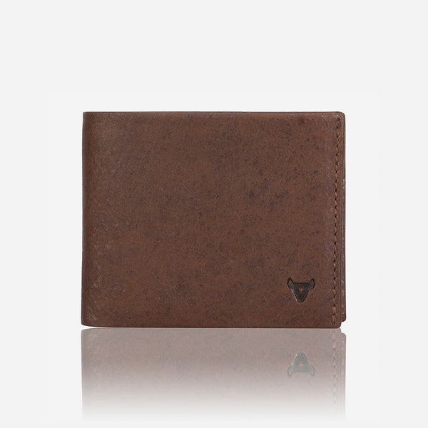Brando Oryx Multi Card, Coin + Note Leather Wallet | Brown