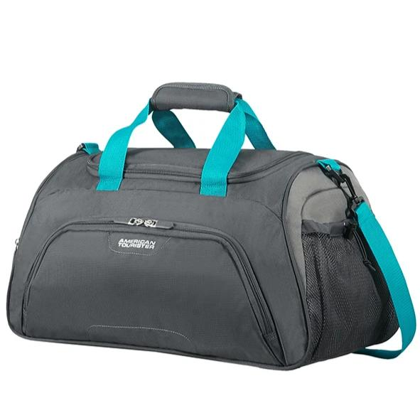 American Tourister Road Quest Sportsbags 50cm Duffel | Grey/Turquoise - KaryKase