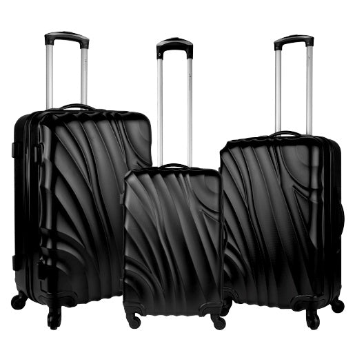 Travelwize Cumulus 3Pc ABS Luggage Set | Gunmetal Grey - KaryKase