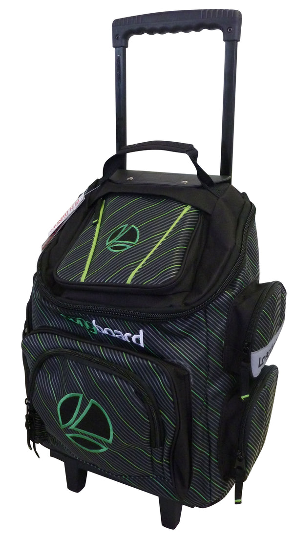 Tosca Top Opening Longboard Pin School Trolley | Black/Green - KaryKase