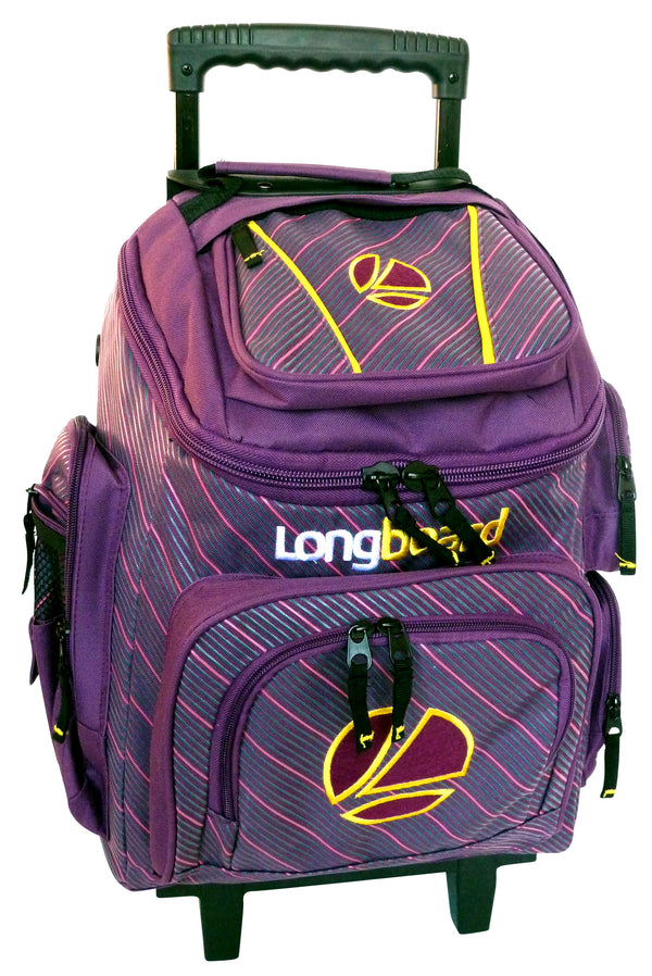 Tosca Top Opening Longboard Pin School Trolley | Yellow/Purple - KaryKase