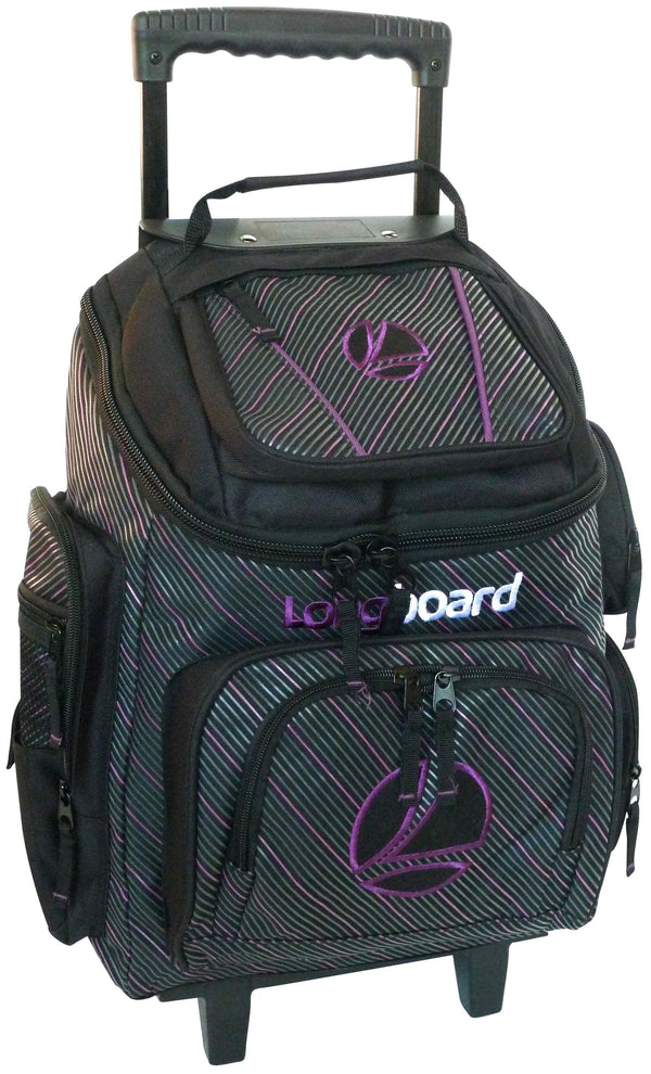 Tosca Top Opening Longboard Pin School Trolley | Black/Purple - KaryKase