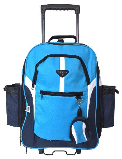 Tosca Large School Backpack On Wheels | Navy - KaryKase