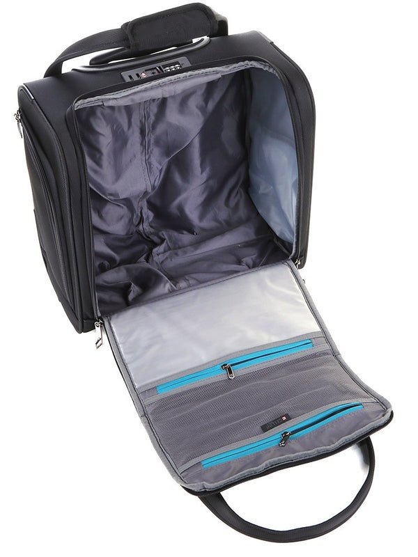 Cellini Xpress Underseat Trolley Business Case | Black - KaryKase