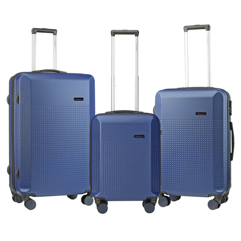 Travelwize Cyclone 3-Pc ABS Luggage Set | Navy - KaryKase
