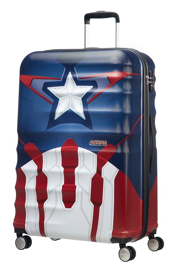 American Tourister Disney Wavebreaker 77cm Spinner | Captain America Close-Up