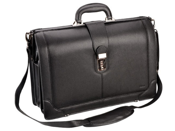 Adpel Gladstone Leather Briefmaster | Black - KaryKase